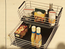 Shelf & Cabinet Sliding Drawer Metal Organizer Pull Out Storage Wire Basket Bin