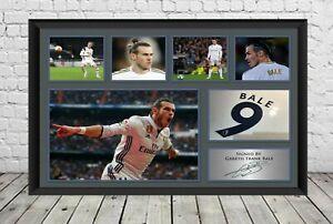 Gareth Bale Signed Photo Real Madrid Tottenham Hotspur  Football Memorabilia