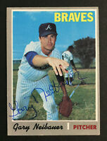 Gary Neibauer Braves signed 1970 Topps baseball card #384 Auto Autograph 1