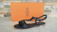 original Tods Tod´s Gr 35 Sangle en T Sandales Chaussures chaussures gris neuf