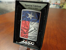 TEXAS STATE FLAG ZIPPO LIGHTER MINT IN BOX