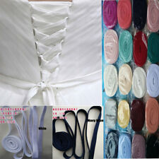 "137"" Satin Corset Kit Zipper Replacement Wedding Gown Dress All Colors & Length"