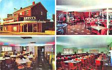 Decatur Il Grove Restaurant Multi-View Juke Box Interior Exterior Postcard