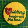 Vintage Heidelberg Neighbourhood Girl Scouts Badge Patch Sew On Camp Blankets