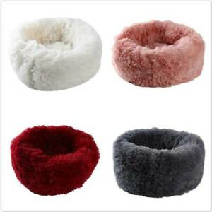 Plush Bed Pet Warm Sleeping Puppy Round Dog Soft Cat Comfortable Calming Nest BL