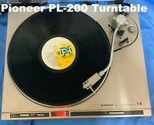 Vintage PIONEER PL-200 Stereo_2-Speed Direct Drive Turntable_Collectable_Used