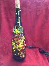 NEW Bling LAMP LIGHTS Electric FOX MEADOW Cork Empty WINE BOTTLE Warm White LEDs
