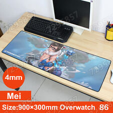 """Mei Overwatch Mouse pad 35.4""""×11.8""""×0.15"""" Play Mat OW Games Mouse mats wild wind"""
