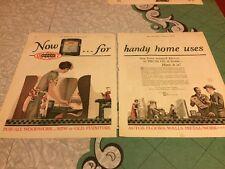 Du Pont Duco Paint 2 Page Vintage Magazine Ads Antique 1926 Buff RCA