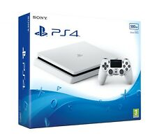Sony Playstation 4 PS4 500GB Slim Game Console (White) Glacier White