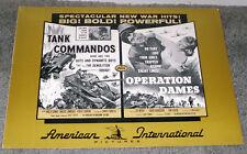 OPERATION DAMES/TANK COMMANDOS press KOREAN WAR original AIP movie pressbook