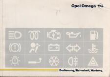 OPEL OMEGA B Betriebsanleitung 1995 Bedienungsanleitung Hanbuch Bordbuch     BA
