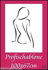 Schablone, Wandschablone, Malerschablone, Wandschablonen, Modernart, Frauenakt 3