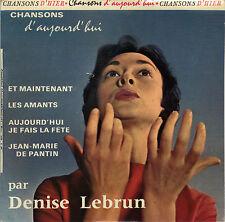 DENISE LEBRUN ET MAINTENANT FRENCH ORIG EP DIDIER BOLAND