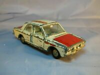 VINTAGE DINKY TOYS 205 FORD LOTUS CORTINA WHITE RED RALLY CAR TOY MECCANO