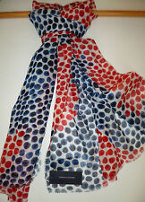 Tommy Hilfiger ladies animal dot scarf cream blue red NEW womens wrap sarong
