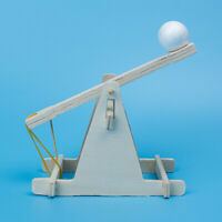 KE_ Children Scientific Experiment DIY Trebuchet Toy Model Wooden Catapult Kit