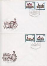 DDR FDC 2976 - 2979 auf 2 FDCs mit SST Berlin Burgen 15.10.1985, first day cover