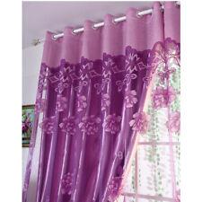 Luxury Jacquard Window Curtain Tulle Panel Sheer Voile Drape Bedroom Living Room