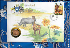E Coins of All Nations Swaziland 1975 1 Cent Unc Km#21