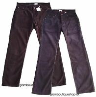BODEN MEN'S CORD JEANS CHOCOLATE/NAVY/BROWN COTTON STRIGHT LEG TROUSER 30/44 R/L
