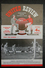 MANCHESTER UNITED V  BOLTON WANDERERS 1958/59  OFFICIAL PROGRAMME