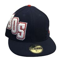 Boston Red Sox Retro Classic 59FIFTY Fitted Baseball Hat Cap Size 7 1/2 MLB NEW