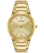 Citizen Eco-Drive Paradigm Gold Tone Stainless Steel Men's Watch AW1552-54P