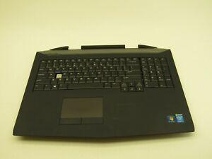 """Dell Alienware 17 17.3"""" OEM Palmrest w/Touchpad Keyboard 29G90 029G90 Grade C"""