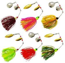 12pcs Fishing Spinner Spoon Baits Jigs Head Rubber Fishing Lure Pike Bass Tackle