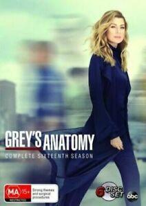 GREY'S ANATOMY Complete Season 16 DVD BRAND NEW & SEALED In Aus!