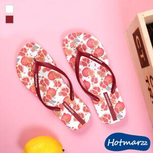 Flip Flops Colourful Girl Sandals Women Slippers Beach Casual Nonskid Pomegranat