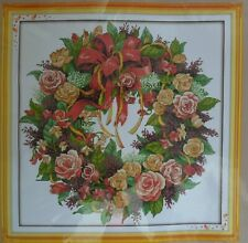 WREATH OF ROSES Cross Stitch Kit - BNIB