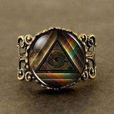 Steampunk Masonic RING Illuminati Pyramid Rainbow Jewish Jewelry Jewish