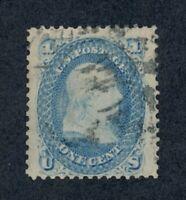 US Scott #63 Used Stamp - HUGE Margins