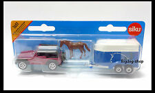 Siku 1651 Jeep Wrangler CAR WITH HORSE TRAILER 1/64 diecast car gift