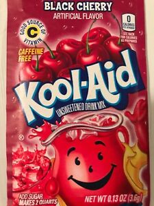 100 BLACK CHERRY Kool Aid Drink Mix