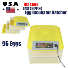96 Egg Digital Electric Incubator Hatcher Automatic Turning Chicken Poultry Bird