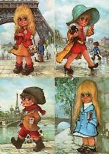 15 Children Michel Thomas Artist Illustrated unused old postcards !960/70's Good