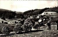 Bischofsgrün Fichtelgebirge Bayern s/w Postkarte 1968 gelaufen Blick ins Maintal