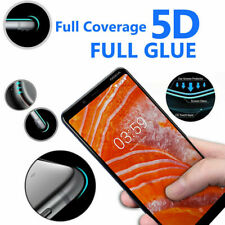 5D Anti Scratch 9H Tempered Glass Screen Protector for Nokia 3.1 Plus