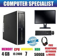 RÁPIDO HP COMPAQ 6200 ORDENADOR LOTE PC DE SOBREMESA Intel Core i5 2300 500GB