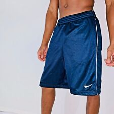Closeout! Rare Nike Dazzle Shiny Basketball Shorts Navy Blue White Small