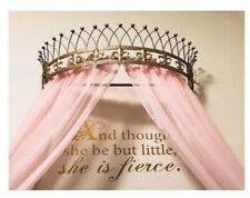OctoRose Metal Wall Decor' Teester Crown Princess Bed Canopy Drapery Hardware