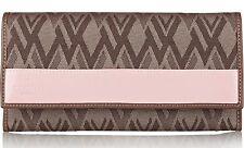 NWT $645 Valentino GARAVANI Pink Leather Mushroom Signature Logo Large Wallet