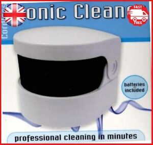 Sonic Denture Cleaner Cleans professionally False Teeth Bath Oral Dental Care