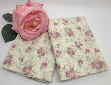Ralph Lauren Set of 2 SHELTER ISLAND Yellow Pink Floral Standard Pillowcases