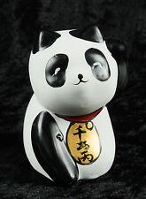Figurine Chat Japonais bobtail en polyresine-Maneki-Neko-noir blanc - 215 - B016