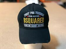 "Dsquared distressed BLACK Baseball Cap ""Killer On the Loose"" snapback Hat"