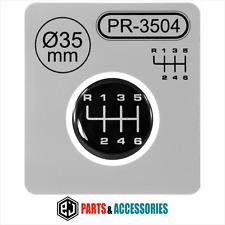 Pomello del cambio Leva del cambio Modello Adesivo 3d a cupola Stick Emblem Badge 6 SPEED ∅= 35mm